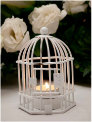 White Birdcage Candle Votive